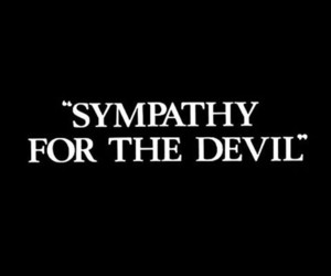 black and white, Devil, and sympathy image
