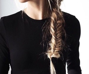 braid, hairstyles, and sweater image
