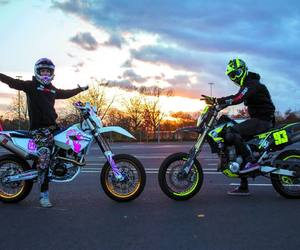 biker, neon green, and do epic shit image