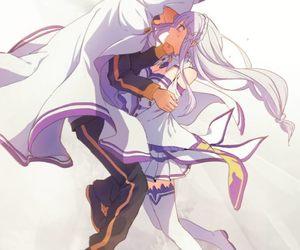 emilia, subaru, and re zero image