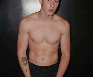 abs, shirtless, and mendes image