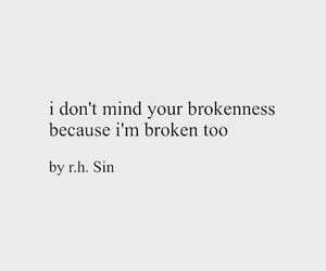 quotes, broken, and depression image