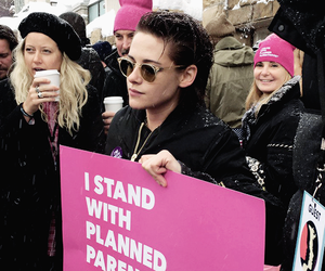 kristen stewart, women's march, and feminism image