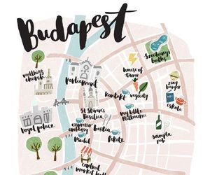 budapest and map image