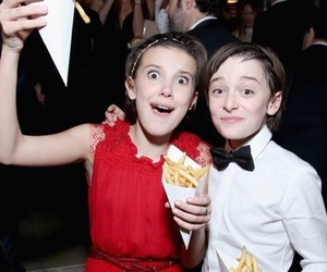 millie bobby brown, noah schnapp, and stranger things image