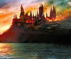 art, books, and harry potter image