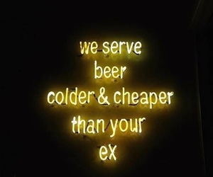 quotes, yellow, and beer image