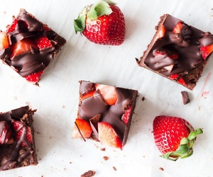fruit, chocolate, and delicious image