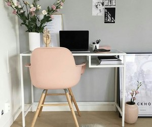 home, pink, and room image