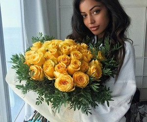 girl, flowers, and cindy kimberly image