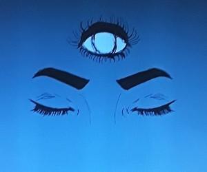 art, black, and closed eyes image