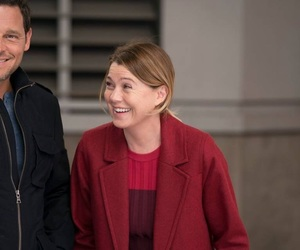 ellen pompeo, justin chambers, and grey's anatomy image