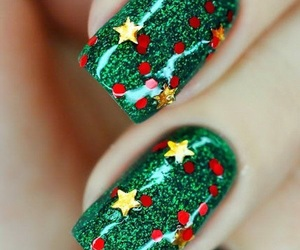 nails, christmas, and green image