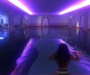 neon, pool, and purple image