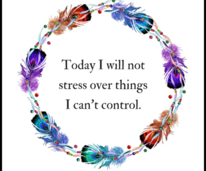 no stress and positive affirmation image