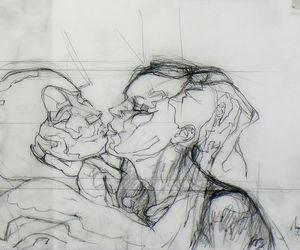 art, drawing, and blackandwhite image