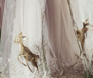 dress, fashion, and deer image