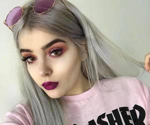 hair, makeup, and baddie image