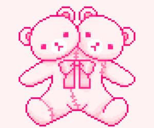 creepy cute, light pink, and kawaii image