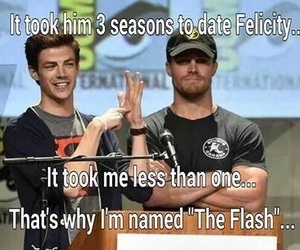arrow, barry allen, and the flash image
