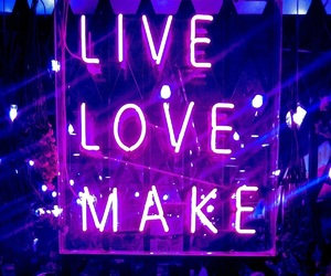 live, neon, and quotes image