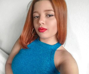 girl, redhair, and red image