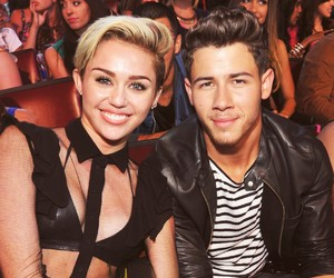 miley cyrus, nick jonas, and niley image