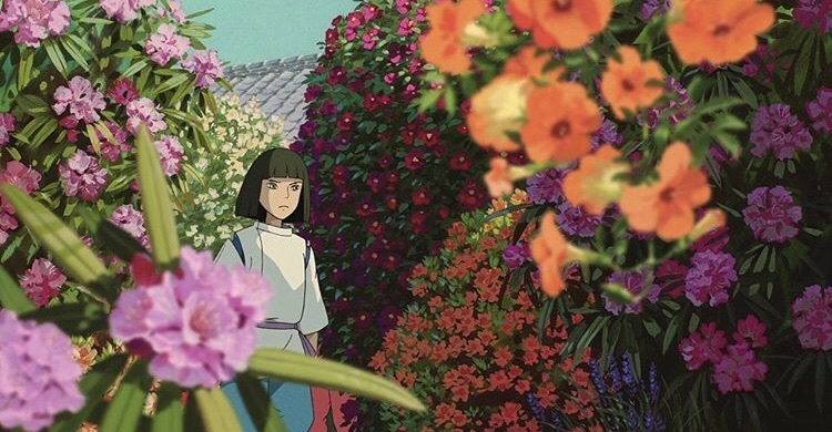 anime, flowers, and spirited away image
