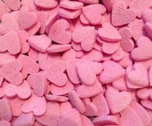 pink, hearts, and aesthetic image