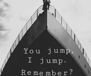 titanic, love, and jump image