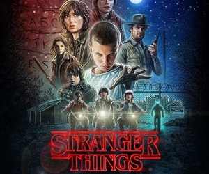 poster and stranger things image