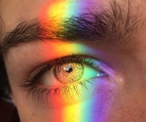 rainbow, eyes, and aesthetic image