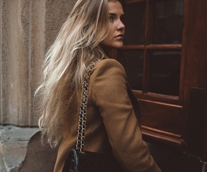 blonde, chanel, and coat image