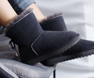 leather, grey boots, and fashion boots image
