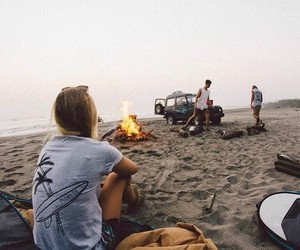 beach, friends, and book image