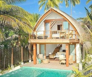 summer, Maldives, and house image
