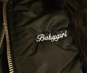 babygirl, jacket, and black image