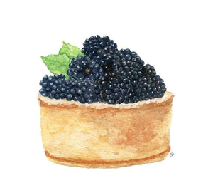 art, blackberry, and cake image