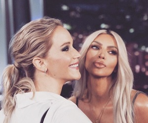 Jennifer Lawrence and kim kardashian image