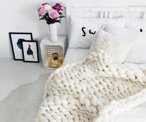 bed, cozy, and fashion image