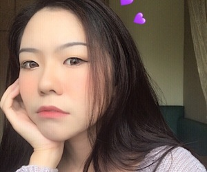 aesthetic, korean, and pale girl image