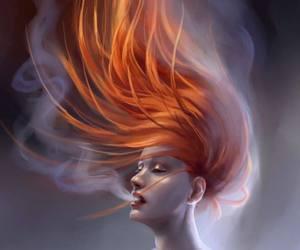redhead smoking hot hair image
