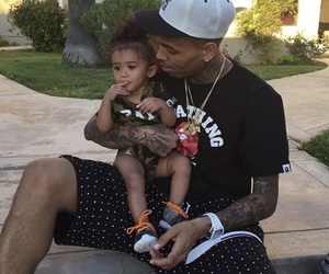 chris brown, royalty, and baby image