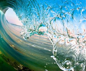 aesthetic, splash, and wave image