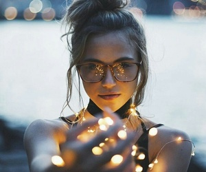 girl, light, and photography image