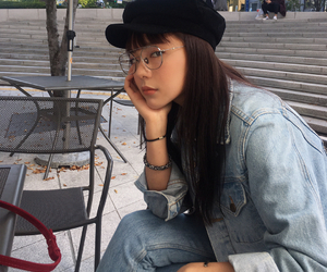 girl, kfashion, and korean image