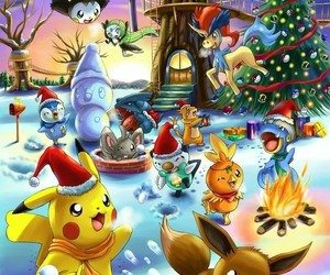 christmas and pokemon image