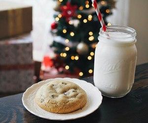 christmas, winter, and milk image