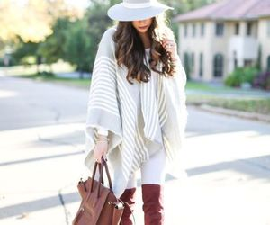 fall, poncho, and blanket cape image