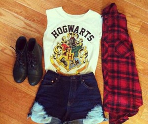 harry potter, hogwarts, and look image